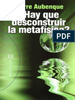 Aubenque, Pierre - _Hay Que Deconstruir La Metafisica