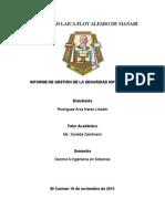 GESTION DE LA SEGURIDAD INFORMÁTICA