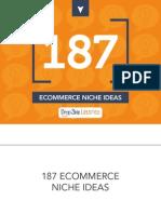 187 Ecommerce Niche Ideas