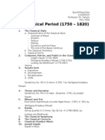 Classical Period Outline