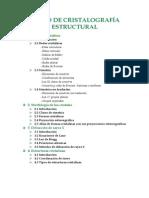 Curso de Cristalografia Estructural