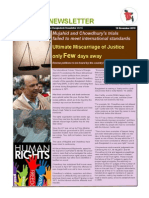 Mujahid and Chowdhury's trials  failed to meet international standards