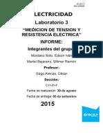 Electricidad 3 MEDICION DE TENSION Y RESISTENCIA ELECTRICA