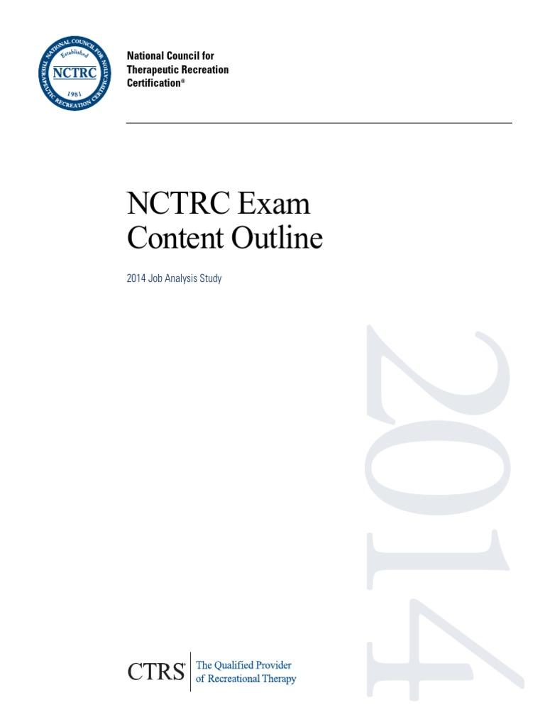 Exam Content Outline Test Assessment Educational Assessment