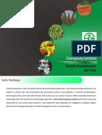 Results Presentation [Company Update]
