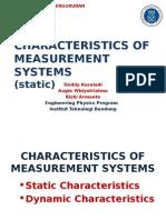 Static Characteristics in Measurement System