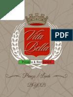 vita bella lunch menu 11-15-15