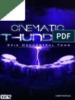 Cinematic Thunder Manual
