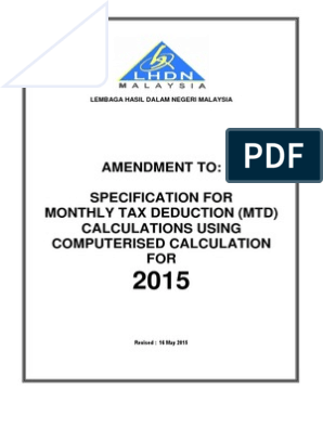 Monthly Tax Deduction Employee Benefits Tax Deduction