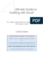Auditing With Excel