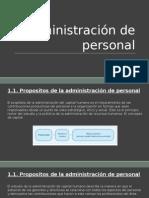 Administración de Personal Exposicion Unidad I