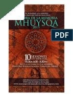 Cátedra de La Memoria Mhuysqa 2015