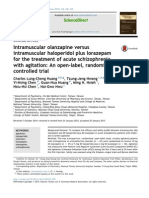 Intramuscular olanzapine versus intramuscular haloperidol plus lorazepam for the treatment of acute schizopfrenia with agitation