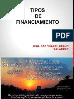 Tipos de Financiamiento CLASE