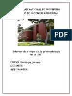Informe de Campo de La Geomorfología de La UNI