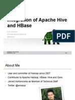 Hive HBase Integration