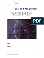 Section 4 - Electricity and Magnetism - With Notes Page