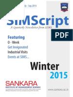 SIMScript Vol II - Issue I