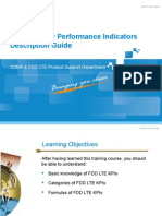 FDD LTE Key Performance Indicators Description Guide