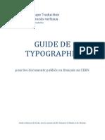 Guide de Typographie