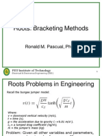 Numerical Methods Bracketing method