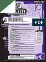 GL Huyett Retaining Rings Catalog