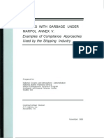 Dealing With Garbage Under MARPOL Annex V