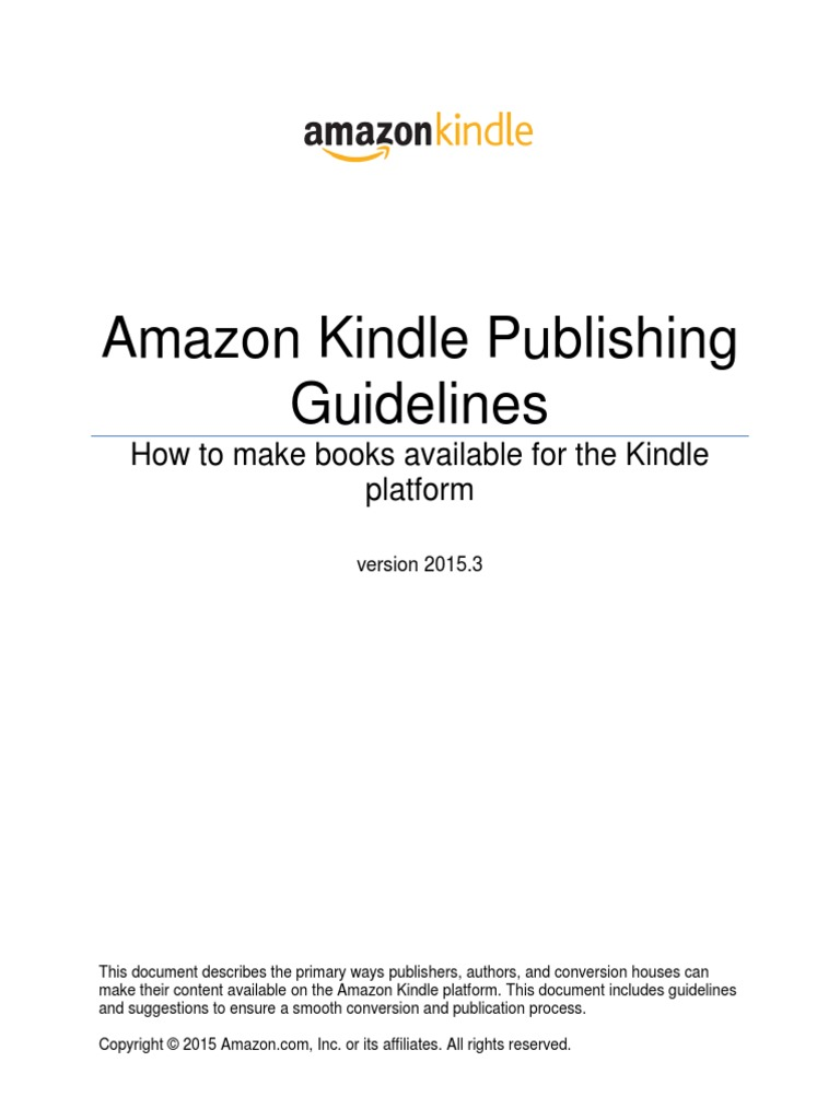 Amazon Kindle Publishing Guidelines | Amazon Kindle | Html Element