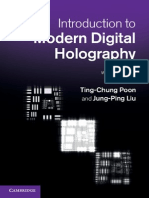 Introduction to Modern Digital Holography With Matlab