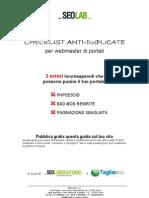 Checklist anti-duplicate