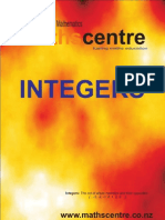 Integers Workbook