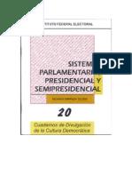 Sistemas Parlamentario, Presidencial y Semipresidencial