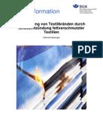 BGN Fachinfo - Vermeidung von Textilbränden durch Selbstentzündung fettverschmutzter Textilien