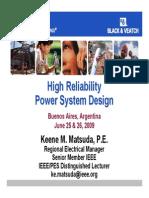 Buenos Aires Reliability Power System Design Rev1