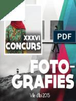 Catálogo XXXVI Concurso Fotográfico Villa de IBI 2015