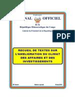 Lois sur le climat des affaires en RDC