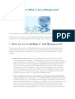What is Greatest Risk in Risk Management
