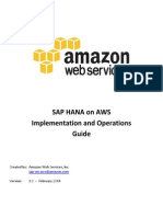SAP HANA on AWS Implementation and Operations Guide