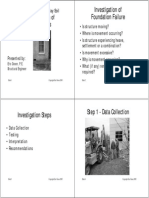 Investigation of Foundation Performance