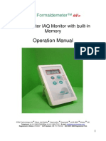 Formaldehyde Meter Manual