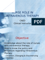 nurse role in intravenous therapy
