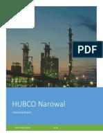 HUBCO Narowal Power Plant internship report