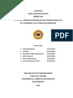 Inspeksi Terhadap Penerapan K3 Tempat Kerja Di PT. Agrabudi Gas Utama Banjarmasin