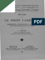 Etude du droit cambiaire colonial congolais