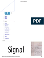 Signals and System Notes