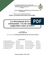 Determinants Valeur Actionnariale.doc