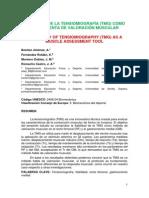 Fiabilidad de La TMG Como Herramienta de Valoración Muscular (Benítez, A. Fernández, K. Montero , J., Romacho, J. 2013)