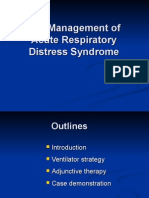 The Management of Acute Respiratory Distress Syndrome