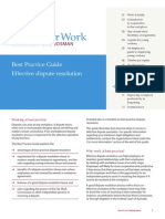 Effective Dispute Resolution Best Practice Guide