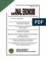 Jurnal Ekonomi Vol No 3 Pak Sengguruh Upload